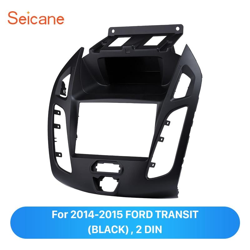 Seicane Double Din Car Radio Fascia Panel Audio Frame Cover Installation Dash Trim Mount Kit For 2014 2015 Ford Transit