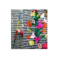 Free Shipping Rainbow Cane To Flower Magic Trick,Mentalism,Stage Magic,Comedy,Close Up,Flower Magia Toys,Gadgets,Joke