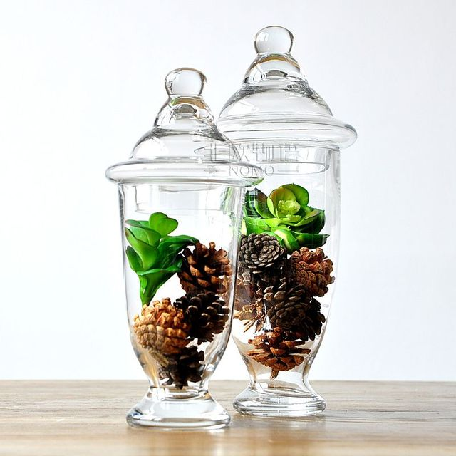 The Nordic Modern Decorative Ware American Country Louis Glass Cool Decorative Glass Storage Jars
