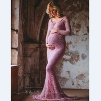 Maternity Photography Props Pregnancy Clothes Maxi Maternity Photography Dress Lace Fancy Sexy Maternity Dress For Photo