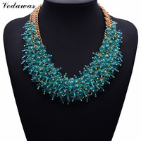 2015 NEW Hot Sale Z Fashion Necklace XG134 Collar Bib Necklaces Pendants Chunky Crystal Statement Necklace