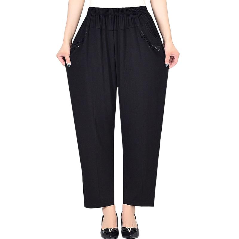 Extra Large Size Women Pants Spring Summer Loose High Elastic Elastic Pants Middle-aged Clothing 6XL 7XL 8XL Autumn Pants Female