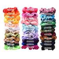 36 pçs cabelo scrunchies veludo elástico faixas de cabelo cintas scrunchy cordas scrunchie para mulher ou meninas acessórios