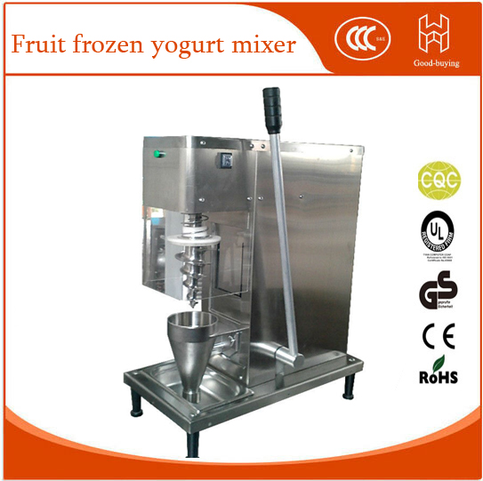 tap water(valve) self-cleaning swirl fruit frozen yogurt mixer  fruit frozen yogurt mixing machine ice cream shaker fruit ice cream feeder from factory selling gelato fruit nuts mixer