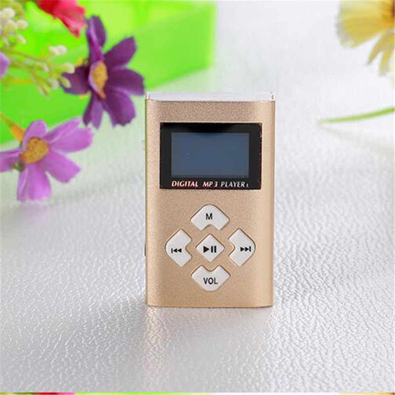 Mp3 Speler Usb Mini Clip MP3 Speler Lcd-scherm Ondersteuning 32 Gb Micro Sd Tf Card Radio Walkman Pocket Audio lied Ondertitels 6 Kleuren
