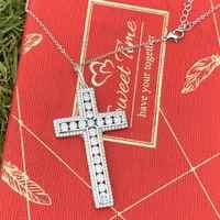 Hip Hop Top Marke neue Luxus Schmuck 925 Sterling Silber Volle 5A Zirkonia CZ Kreuz Anhänger Frauen Hochzeit Halskette geschenk