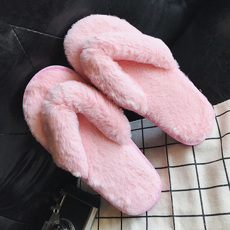 2017 Autumn Winter Women Bedroom Slippers Fur Flip Flops Luxury Indoor Plush Warm Comfortable Flat Heel Shoes Home Flats vanled 2017 new fashion spring summer autumn 5 colors home plush slippers women indoor floor flat shoes free shipping