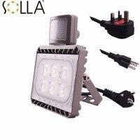 New LED PIR Floodlights Motion Sensor Flood Lights 30W White Induction Sense Reflector Outdoor Spotlights IP65
