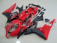 Красный и черный матовый 100% натуральная ABS Пластик обтекателя шт для Honda CBR600RR 07 08 Обтекатели Наборы 2007 2008