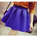 2016 Autumn Skirt Neoprene New Space Cotton Elastic Force High Waist Women Skirts Pleated Skirt Saia Polychromatic Casual