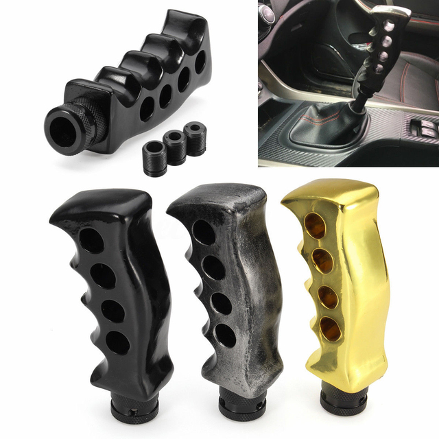 US $11 1 |AUTO Car Gun Grip Gear Shift Knob Lever Handle Column Floor  Shifter Universal Fit color random-in Gear Shift Knob from Automobiles &