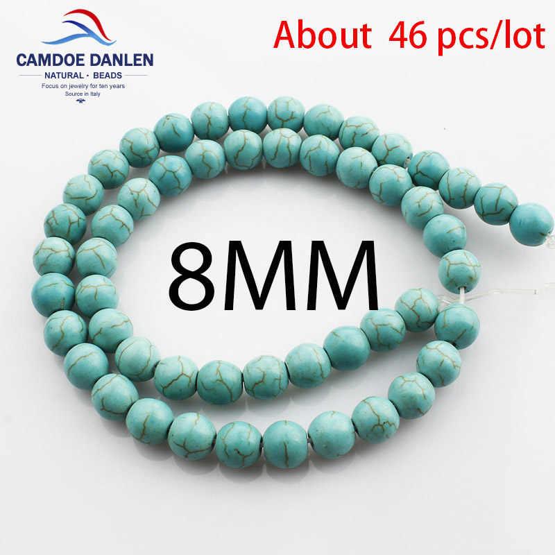 Naturstein 4 6 8 10 12mm Grüne Howlith Lose perlen Runde Diy Ohrringe Armband Halskette Perlen Schmuckherstellung Zubehör teile