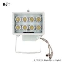 HJT Blanc illuminateur Remplir Lumière 8 PCS Led de Sécurité de Surveillance CCTV pour Caméra Caméscope Snap Route Parking lampe de poche