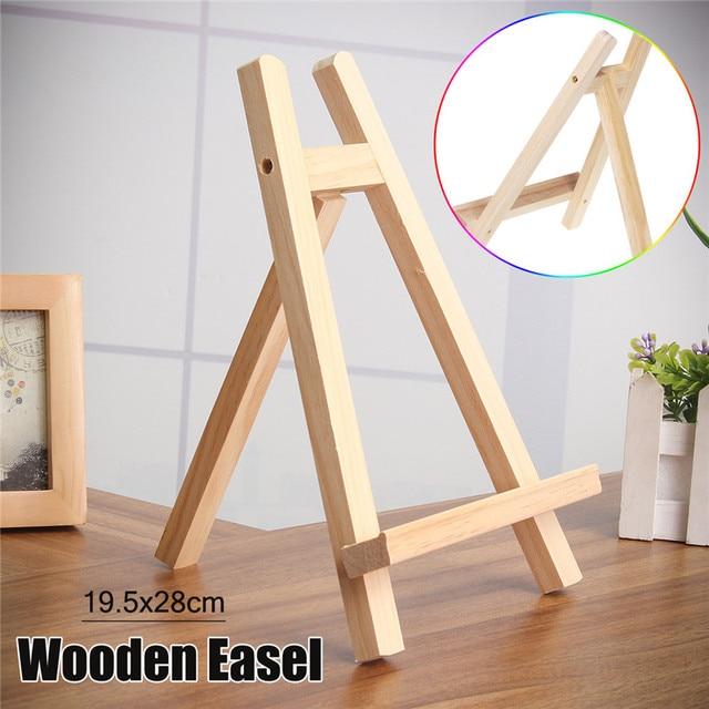 19.5x28cm Table Top Display Beech Wood Artist Art Easel Craft Wooden Adjustable  Wedding Table Card Stand Display Holder