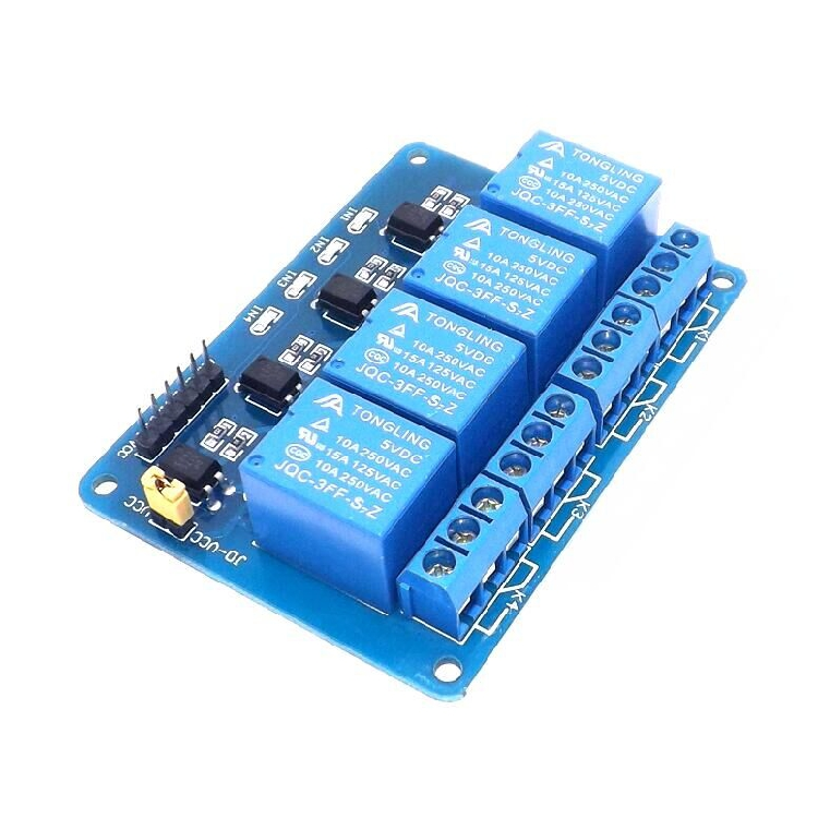 2PCS/4 relay output module, relay output contact maximum 250A 10A. Input IN1, IN2, IN3, IN4 signal line low active цена 2017