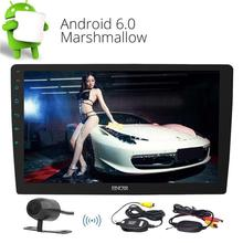 "Wireless Camera+Android 6.0 Car Radio Stereo 10.1"" Double Din Head Unit GPS Navigation ,Bluetooth ,OBD ,Mirror Link,WIFI ,AM FM"