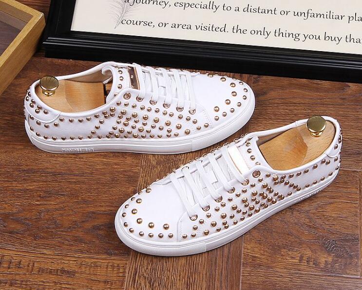 Designer Lace Masculino Flats Rebite De Sapatos 3 Novio 1 Moda up Rua Casamento Plataforma 2 Casual Trendsetter Vestido Mocassins Zapatos qzPwt1f