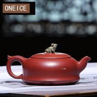 Alkohol czajniczek słynne czyste ręcznie robione Zhuhuo staw księżycowy zestaw herbaty 9 otwór Yixing czajniki autor Dahongpao w Dzbanki do herbaty od Dom i ogród na
