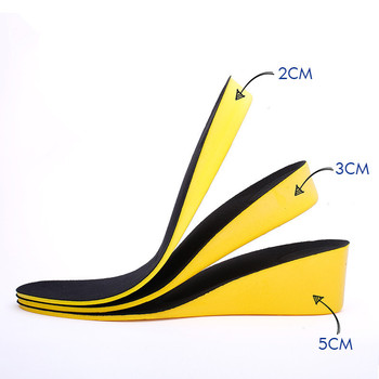 2019 New Height increase insoles for men/women 2/3/5 cm up invisiable arch support orthopedic insoles shock absorption blue/black color Hot Sale increase height insoles height fabric sport insoles for heels for all shoes to increase height 1 5 cm 2 5 cm 3 5