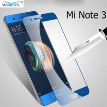 2.5D Xiaomi Mi Note 3 Glass Film 9H Hardness Tempered Glass for Xiaomi Mi Note 3 Screen Protector 6d tempered glass for xiaomi mi note 3 full cover curved screen protector film on the for xiaomi mi note 3 protective glass