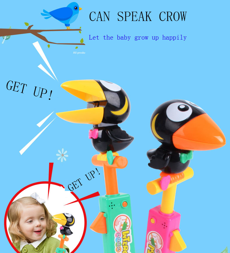 Smart Talking crow toy Child doll imitation show Voice recording Toy For Children Fun