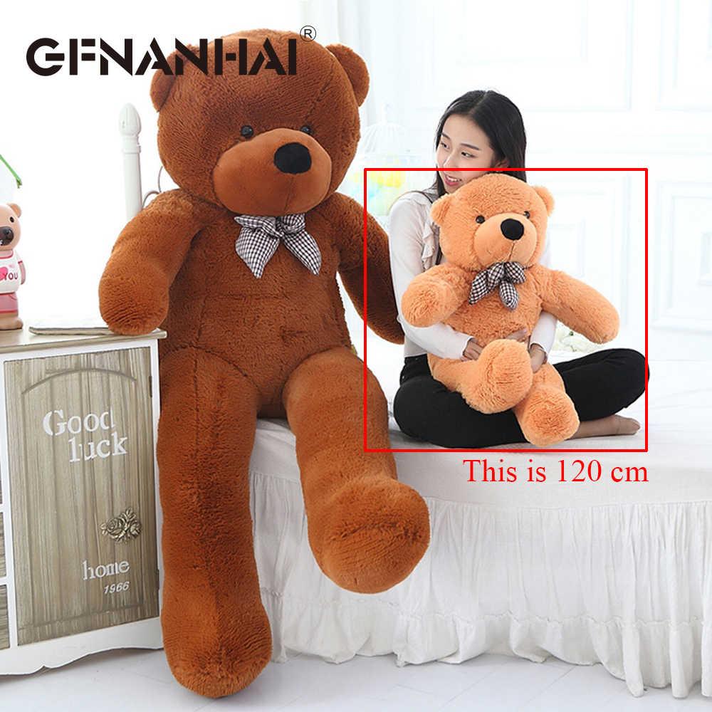 1 шт. 120 см милый плюшевый мишка пальто на молнии плюшевые игрушки полуфабрикаты игрушки в виде медведей животное медведь куклы кожи для детей подарок на день рождения