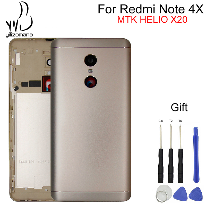 YILIZOMANA Original Phone Rear Door Housings For Xiaomi Redmi Note 4X MTK HelioX20 Snapdragon 625 Replacement Battery Back Cover in Mobile Phone Housings Frames from Cellphones Telecommunications