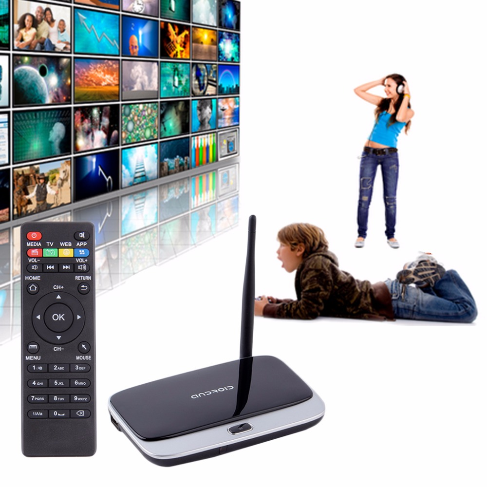 CS918S Andriod 4.4 Smart TV Box Quad Core 2GB RAM 16GB ROM Built in Bluetooth 3G 4K WIFI Android TV Box US EU Plug jesurun dx07 quad core smart tv box w 5 0 mp camera bluetooth mic air mouse black eu plug
