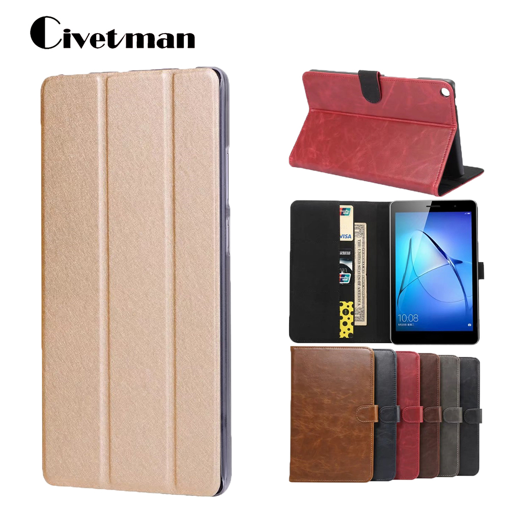 Tablet Case For Huawei Mediapad T3 8 Lightweight Stand Flip Leather Cover Case For Honor Play Pad 2 8.0 inch KOB-L09 KOB-W09
