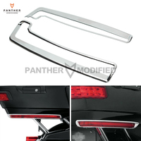 Chrome Motorcycle Tour Pak Side Marker Light Trim Rear Decoration Case For Harley Tri Electra Glide