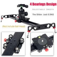 Cheaper Ashanks 60cm Camera Track Slider 4 Bearings Rail Slide Aluminum Alloy Photography DV Studio Stabilizer For DSLR Video Camcorder