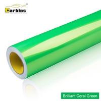 New Color Car Vinyl Wraps! Car Foil Coral Green Promotion Price Best Quality Brand