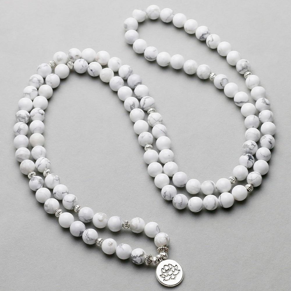 Howlite Mala Necklace 1