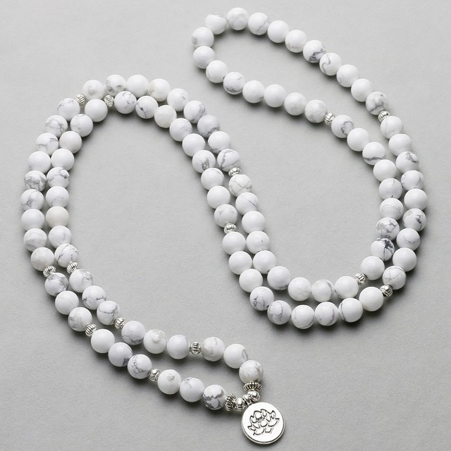 Howlite Mala Necklace 1