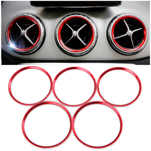 Image 1 - Adhesivo para salida de aire de aleación de aluminio, decoración para panel de instrumentos, anillo de salida de aire para Mercedes Benz AMG A/B/GLA/CLA W246 W176 Class