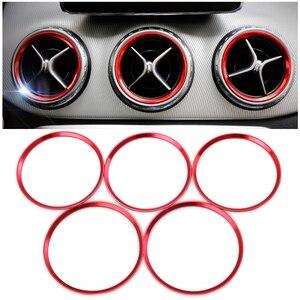 Image 1 - In lega di alluminio di uscita Dellaria sticker/Strumento anello decorativo presa pannello di Aria Per Mercedes Benz AMG A/B/GLA/CLA W246 W176 Classe