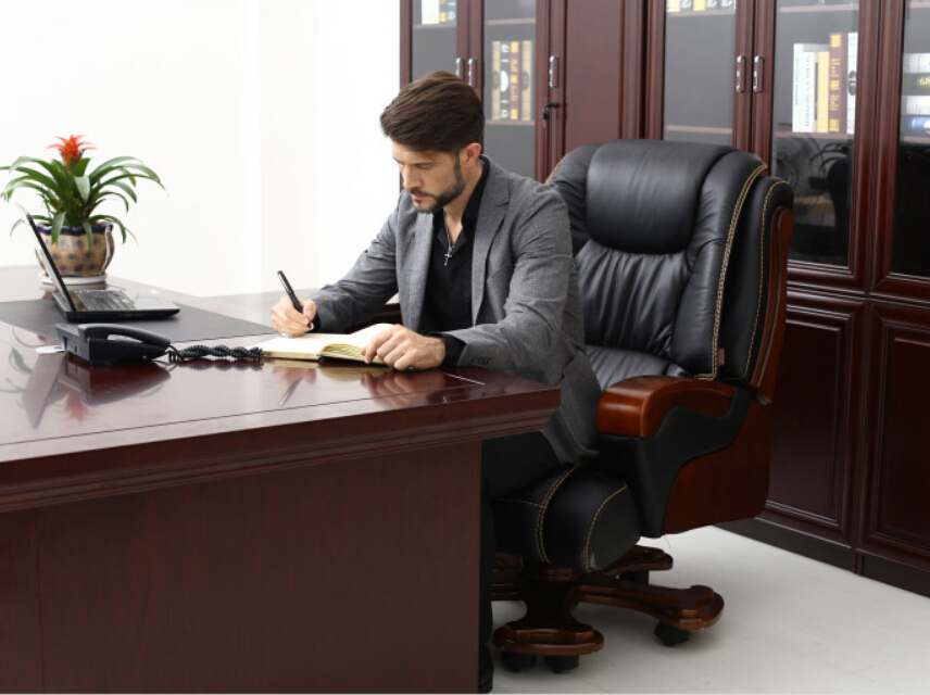 Wood Chair Boss Chair Leather Office Chairs Reclining Massage Chair Lift  Chair Home Computer Chair In Office Chairs From Furniture On Aliexpress.com  ...