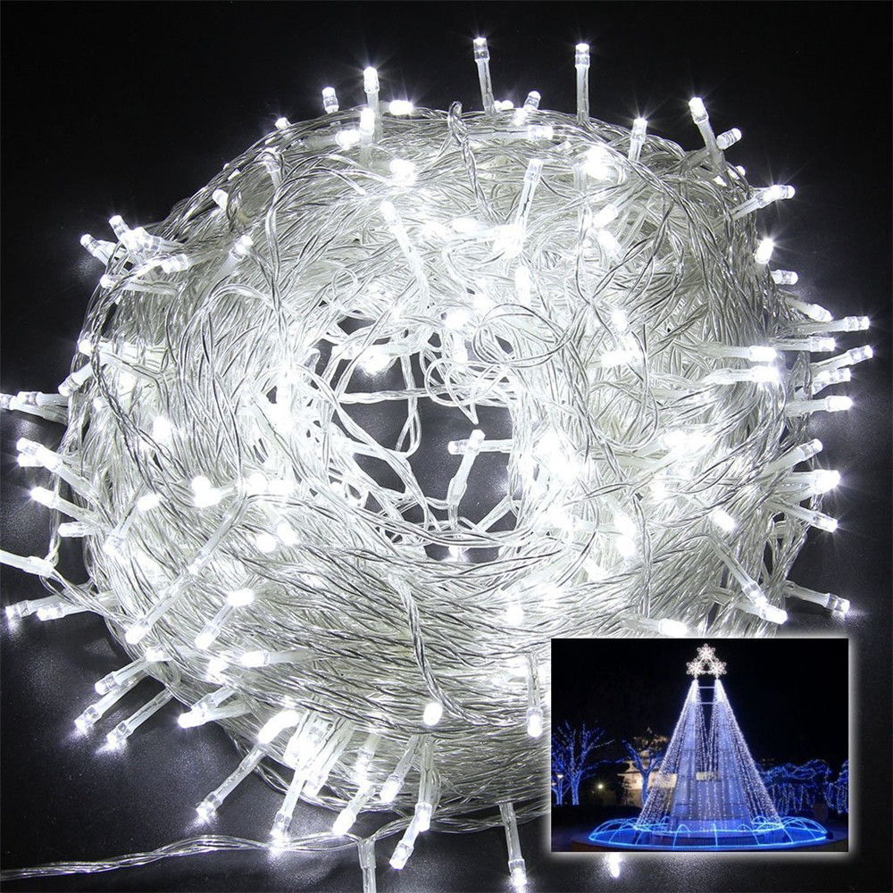 Kmashi Waterproof Outdoor Home Party 100M LED Fairy String Lights ...