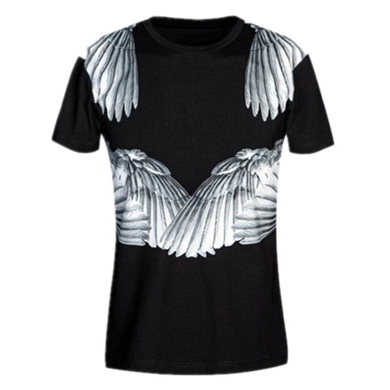 T Impression Luxe Style Slim Coton Hommes De D'été shirt Tops T Respirant Fit Manches Numérique Court shirts Marque 3d Ailes 2017 Xw01gqE