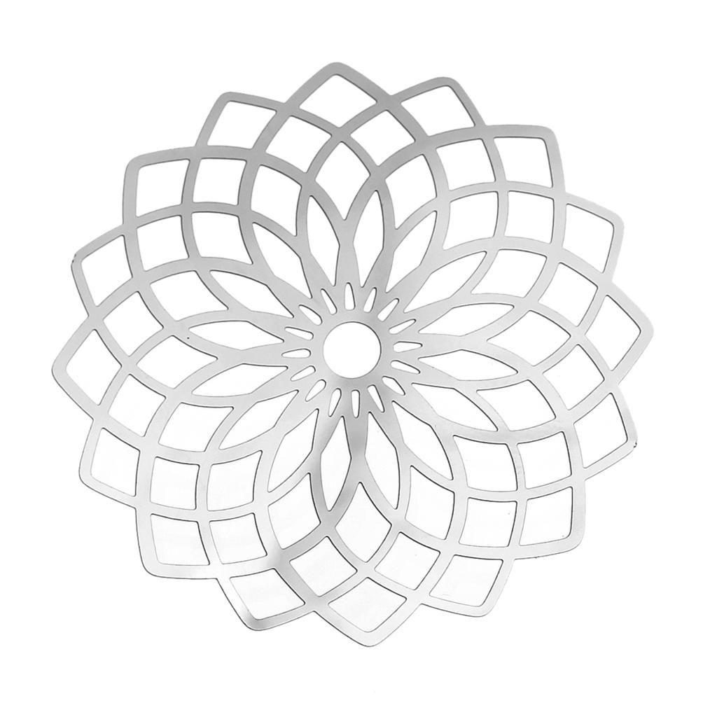 DoreenBeads из нержавеющей стали украшения выводы цветок Серебряный тон Hollow 5,1 см (2 «) x 5,1 см (2 «), 1 шт. 2017 Новый-in Фурнитура и компоненты для ювелирных изделий from Ювелирные украшения on Aliexpress.com | Alibaba Group