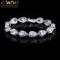 Best Seller Of Woman 2015 Silver Plated Rhinestone CZ Diamond Bracelets Bridal Wedding Jewelry Gift CB135