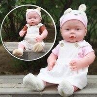41CM Baby Kids Reborn Baby Doll Soft Vinyl Silicone Lifelike Sound Laugh Cry Newborn Baby Toy