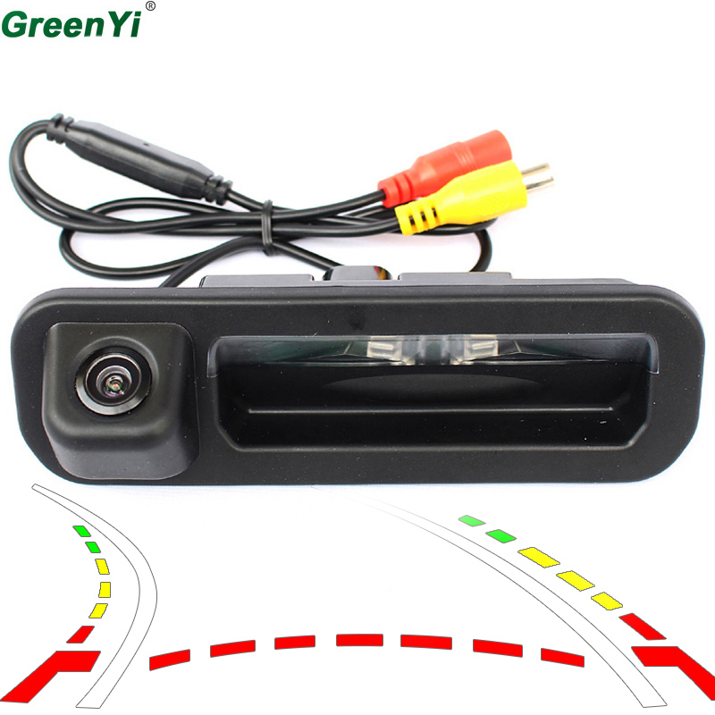 Reversing Trajectory Tracks Special CCD Car Rear View font b Camera b font For Ford Focus