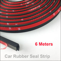 4Meter Pcs Lot P Type Car Sound Insulation Seal Sealing Rubber Strip Sealing Noise Weather Rubber