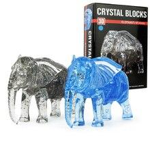 Kid Éducation Assemblage 41 PCS 3D Cristal Puzzle Jouets DIY Éléphant Modèle Creative Main Jouet Puzzles Pour Enfants Cadeaux