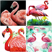Flamingo 5D DIY Diamond Painting Abstract Art Full Square Drill Home Decoration Mosaic Cartoon 3D Animal Cross Stitch Embroidery