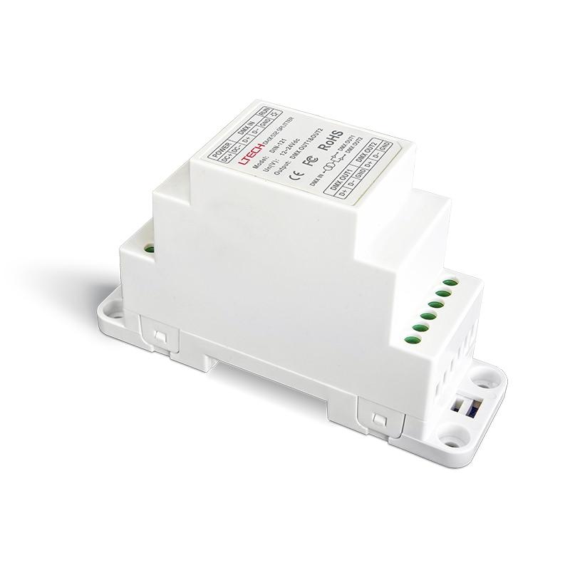New LTECH Led DMX Power amplifier 1 Channel Input 2 channel Output DMX Power Amplifier DMX512 Power Repeater Controller rockford punch 1 channel amplifier