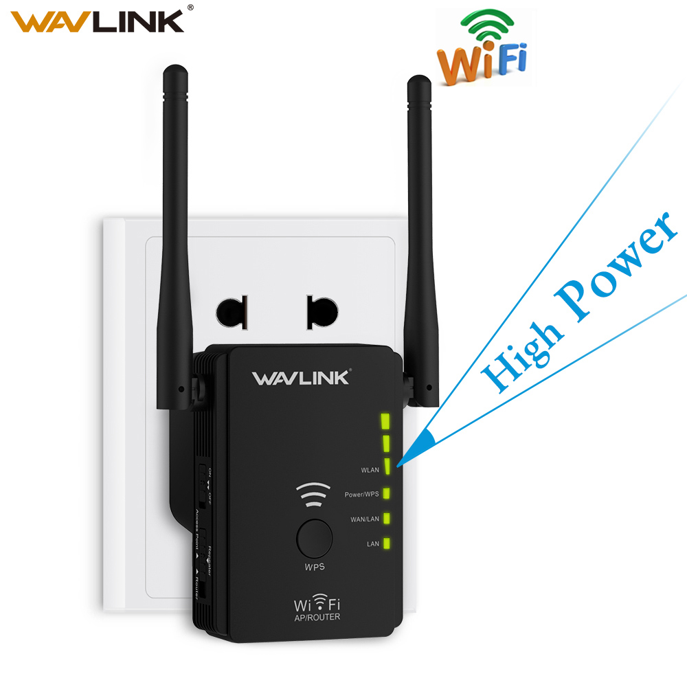 Wavlink High Power Wireless wifi Repeater Router Access Point AP N300 WIFI Range Extender WPS Button With 2 External Antennas EU