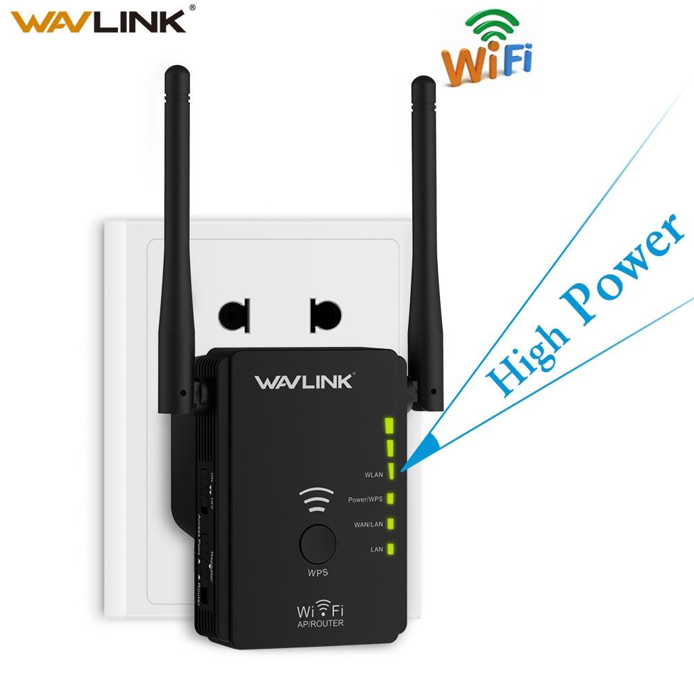 Wavlink inalámbrico de alta potencia repetidor wifi Router Punto de Acceso AP N300 extensor de rango WIFI botón Botón WPS con 2 antenas externas de la UE