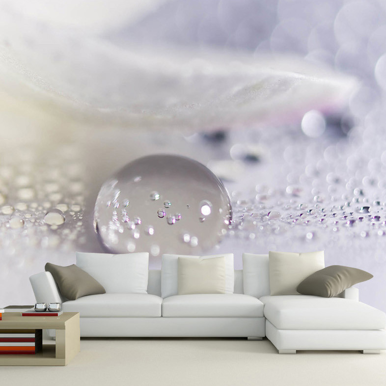 Papel de parede Large Mural Water Drop 3d Wall Photo Murals Wallpaper for Sofa Background 3D Murals Wall paper 3d Wall Mural 3d papel de parede artificial bamboo wallpaper mural rolls for background 3d photo wall paper roll for living room cafe